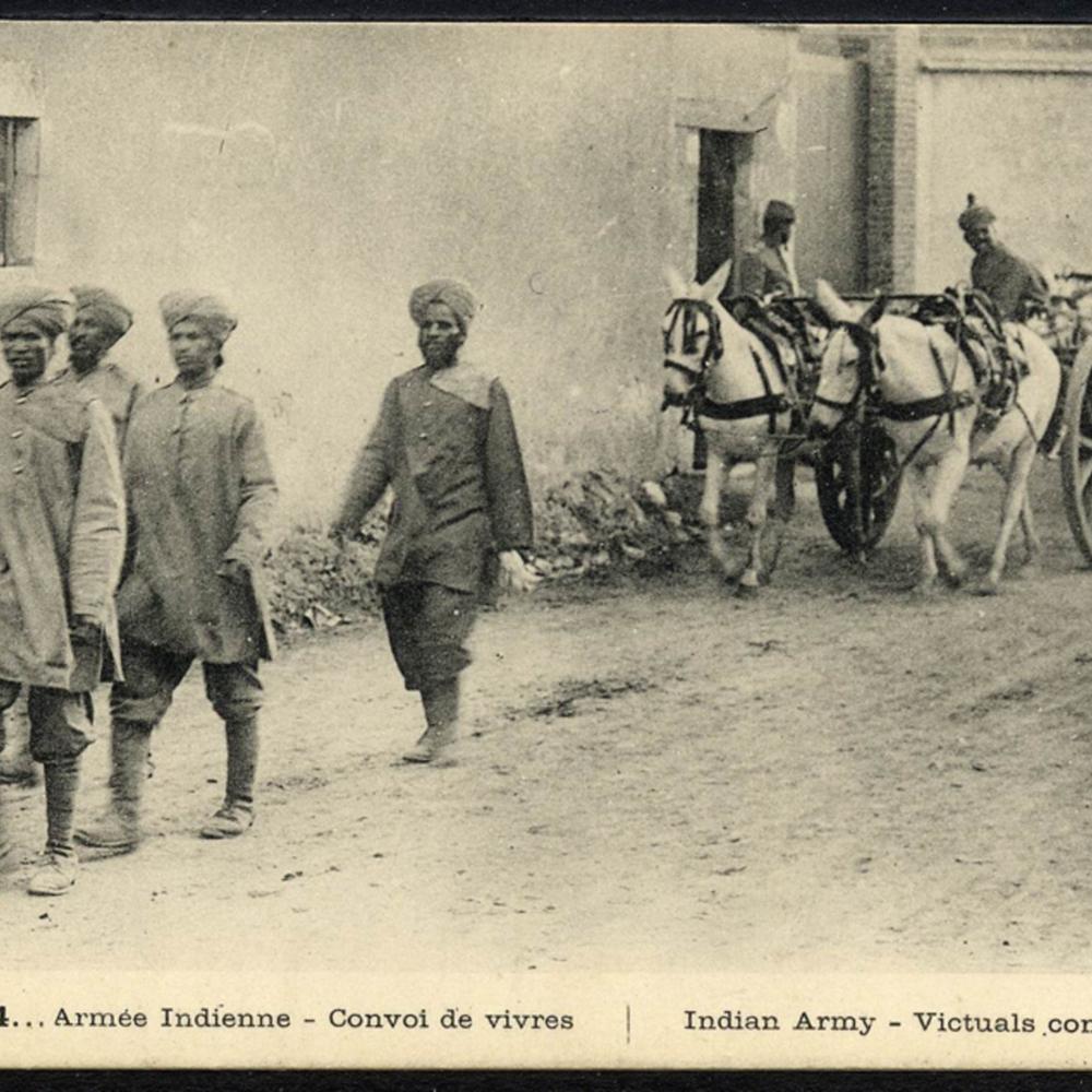 1914… Armée Indienne - Convoi de vivres. Indian Army - Victuals convey